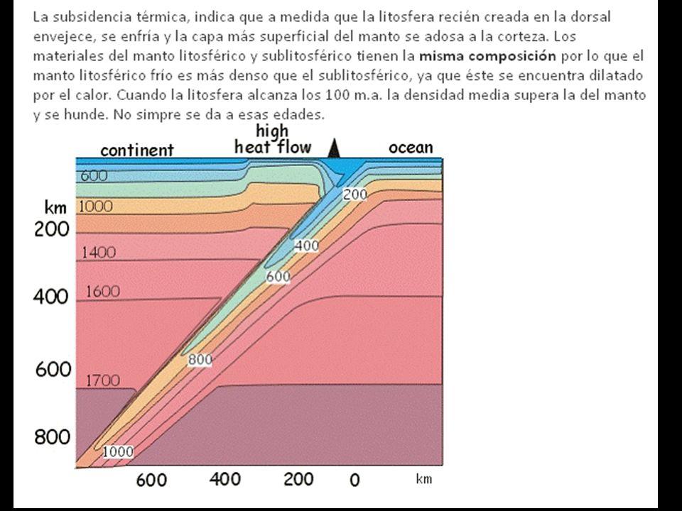 BORDES CONVERGENTES Subducción espontánea. Fosa oceánica muy profunda.