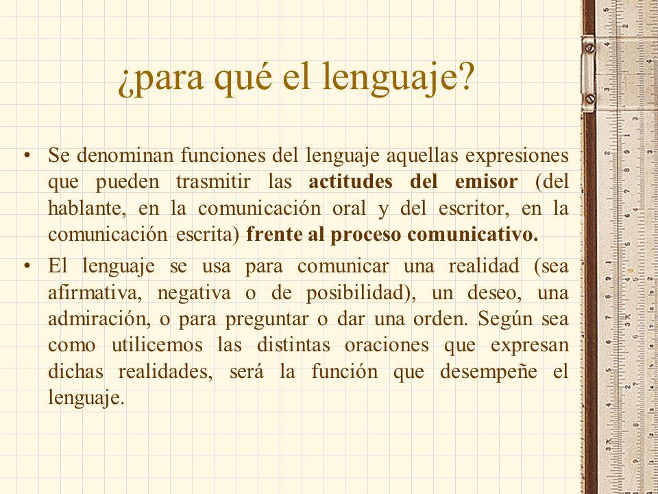 ¿para qué el lenguaje
