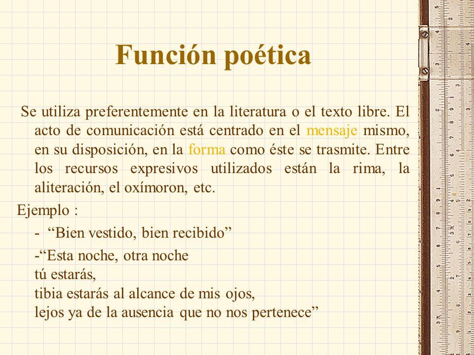 Función poética