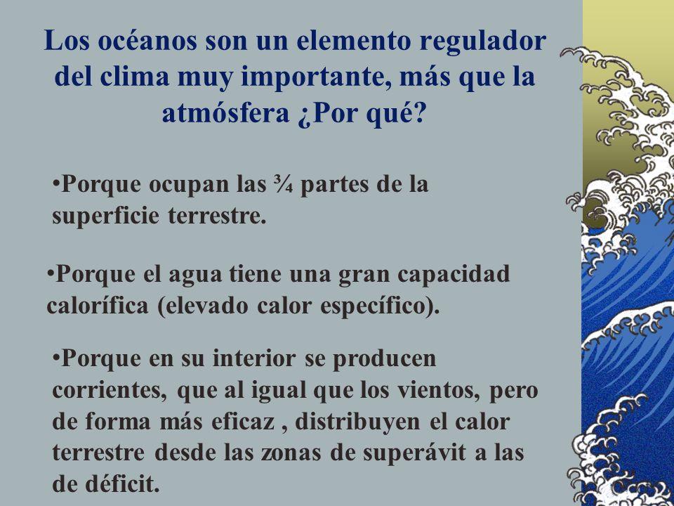 Los océanos son un elemento regulador del clima muy importante, más que la atmósfera ¿Por qué