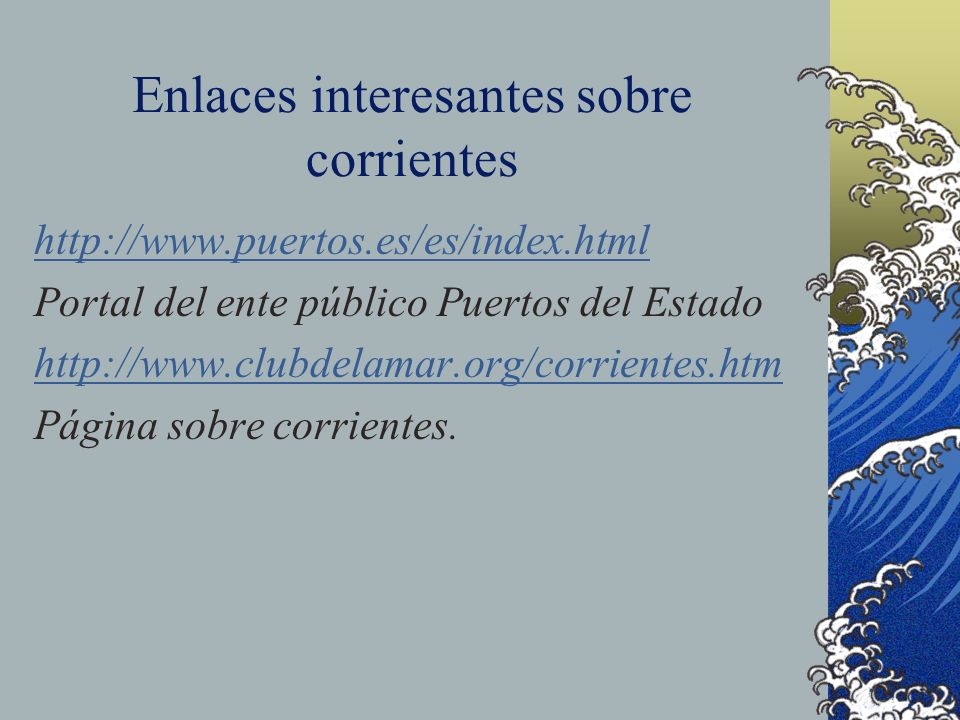 Enlaces interesantes sobre corrientes