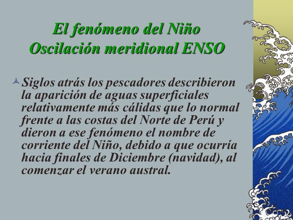 El fenómeno del Niño Oscilación meridional ENSO
