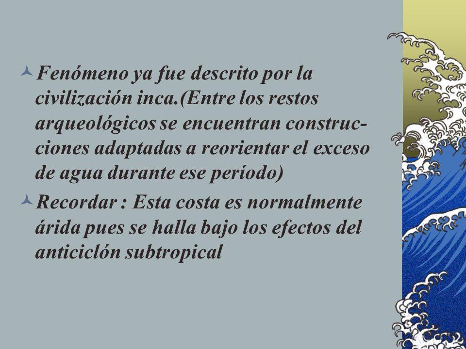 Fenómeno ya fue descrito por la civilización inca
