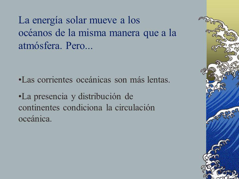 La energía solar mueve a los océanos de la misma manera que a la atmósfera. Pero...