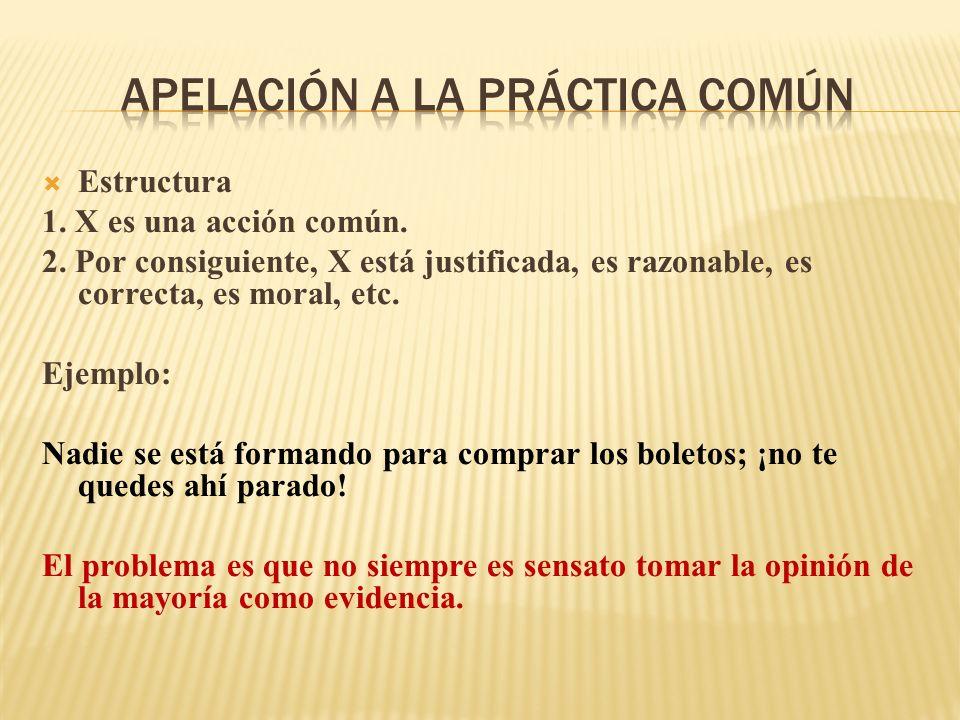 Apelación a la práctica común