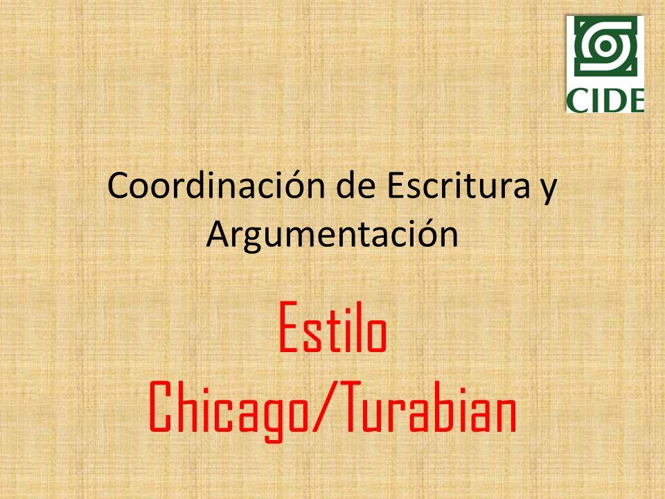 Coordinación de Escritura y Argumentación