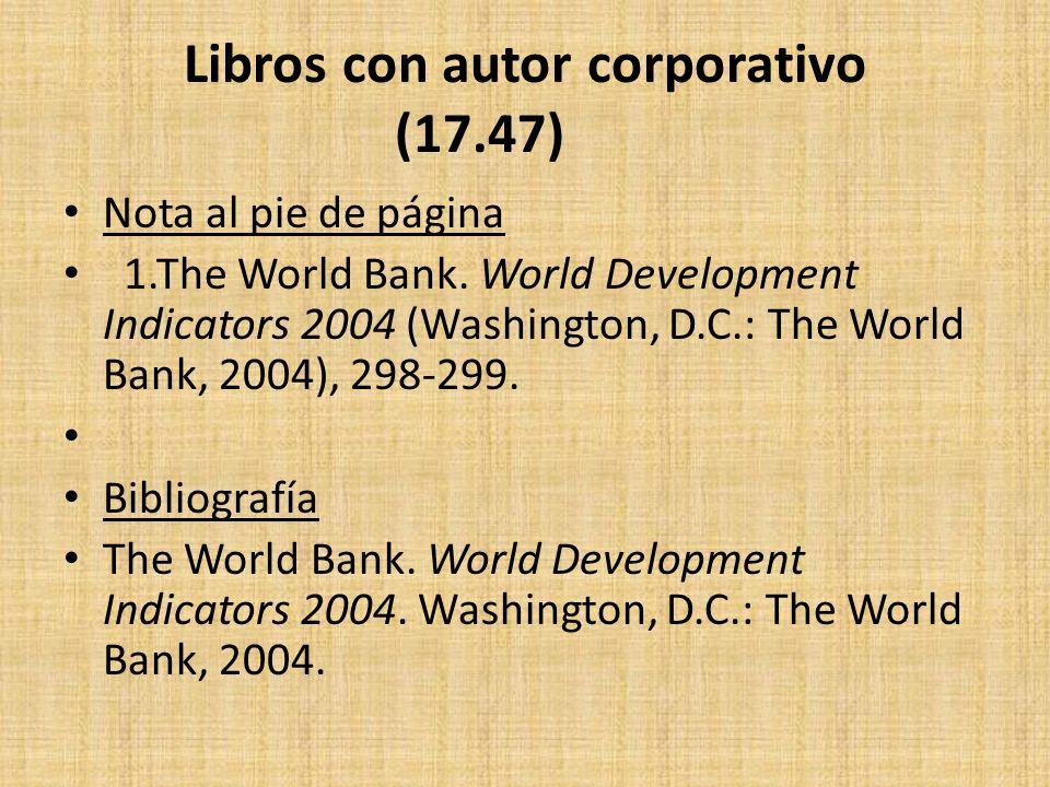 Libros con autor corporativo (17.47)