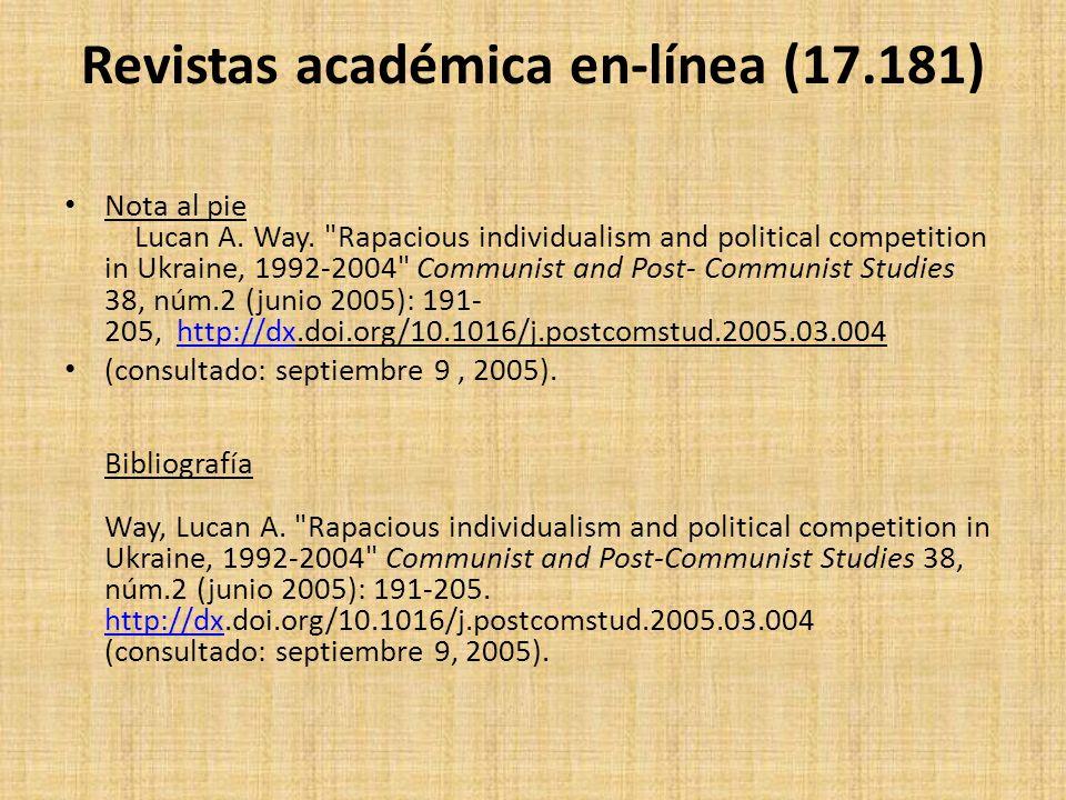 Revistas académica en-línea (17.181)