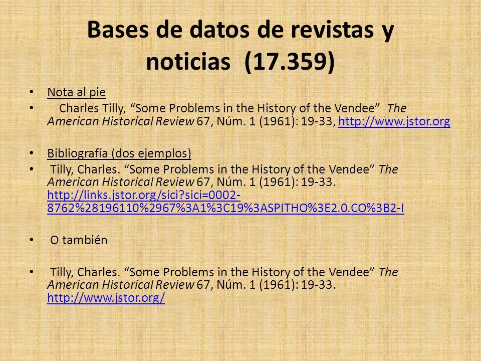 Bases de datos de revistas y noticias (17.359)