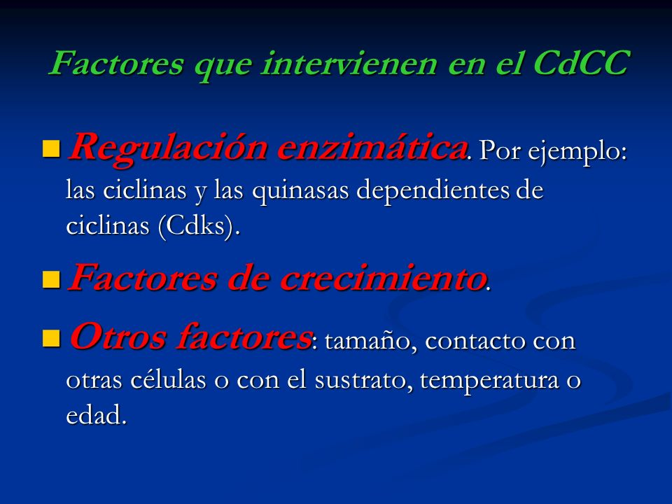 Factores que intervienen en el CdCC