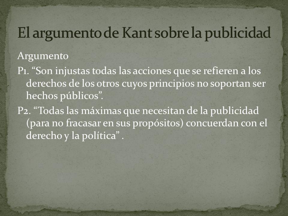 El argumento de Kant sobre la publicidad