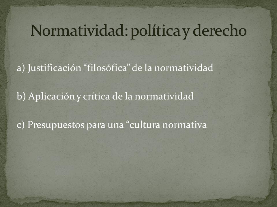 Normatividad: política y derecho