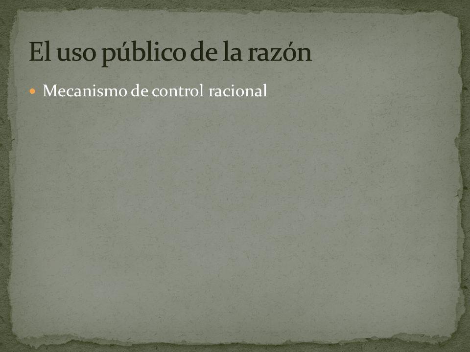 El uso público de la razón