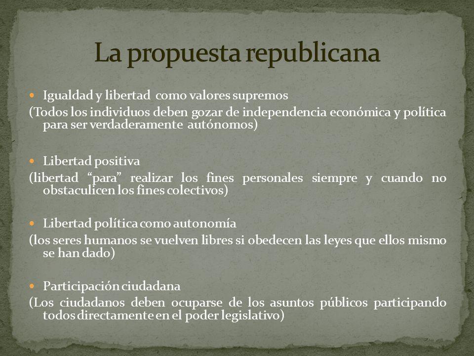 La propuesta republicana