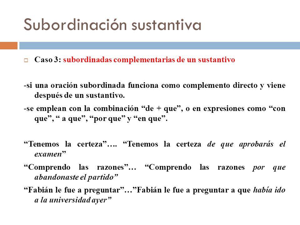 Subordinación sustantiva