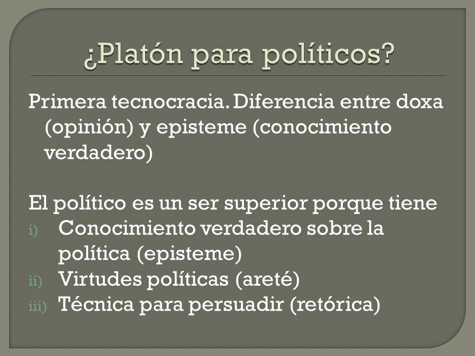 ¿Platón para políticos