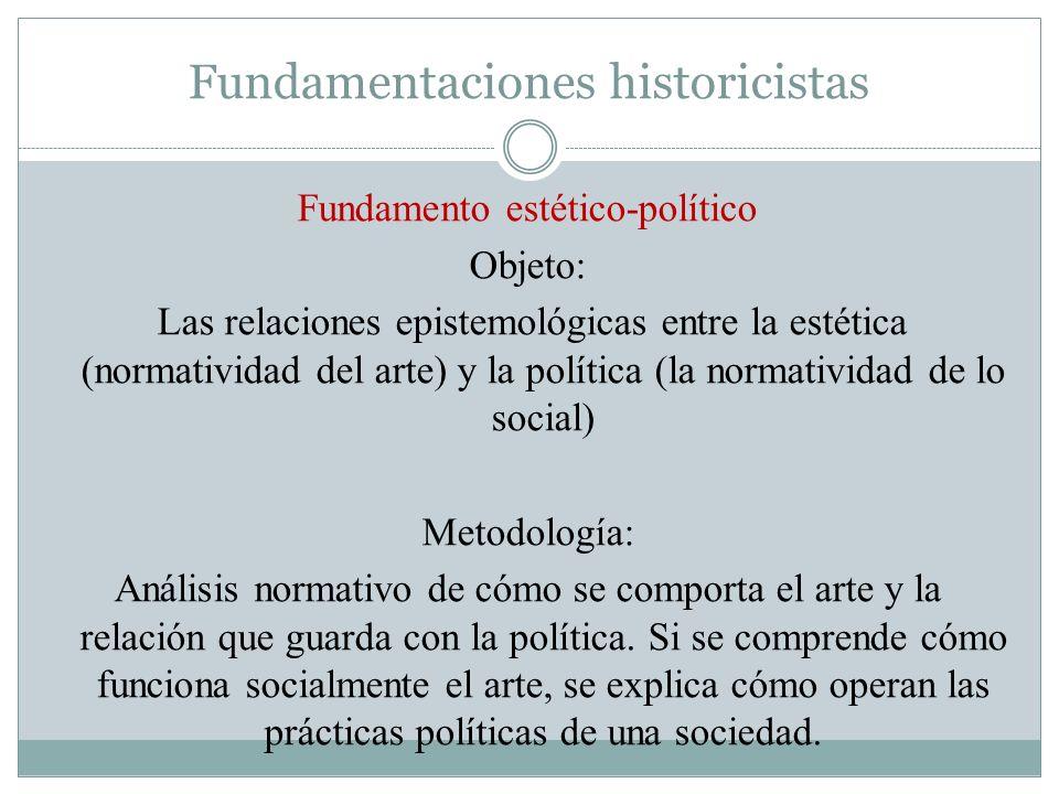Fundamentaciones historicistas