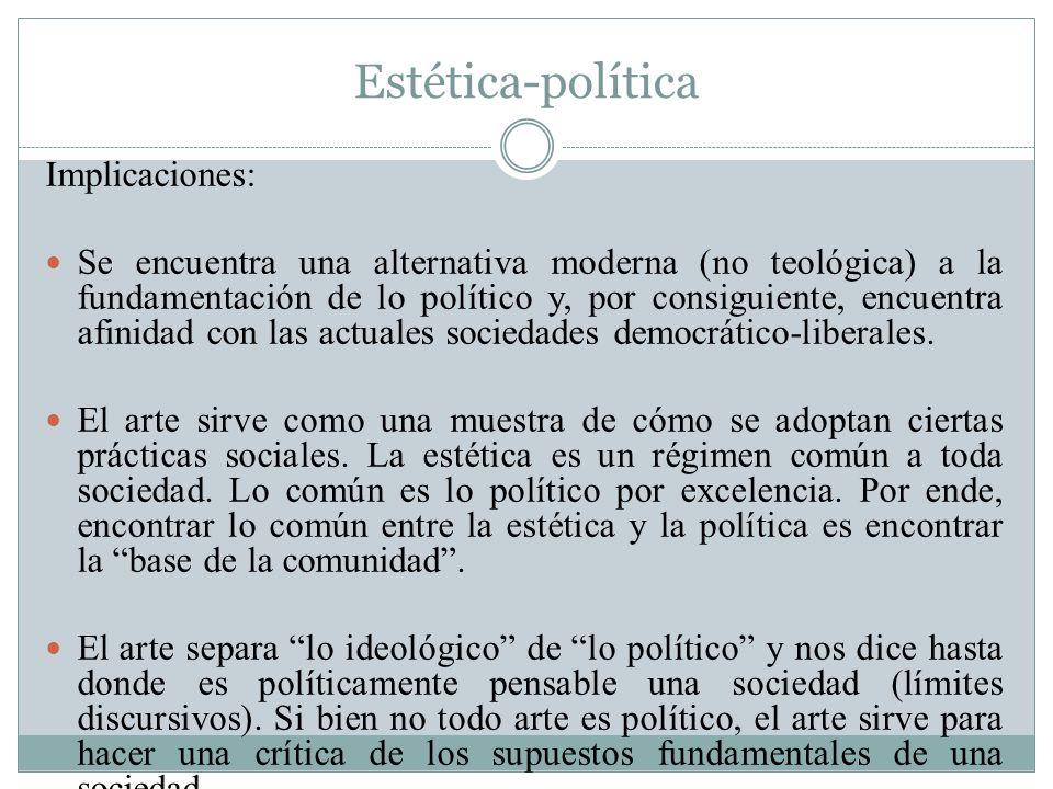 Estética-política Implicaciones: