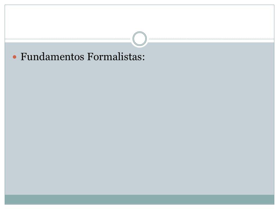 Fundamentos Formalistas: