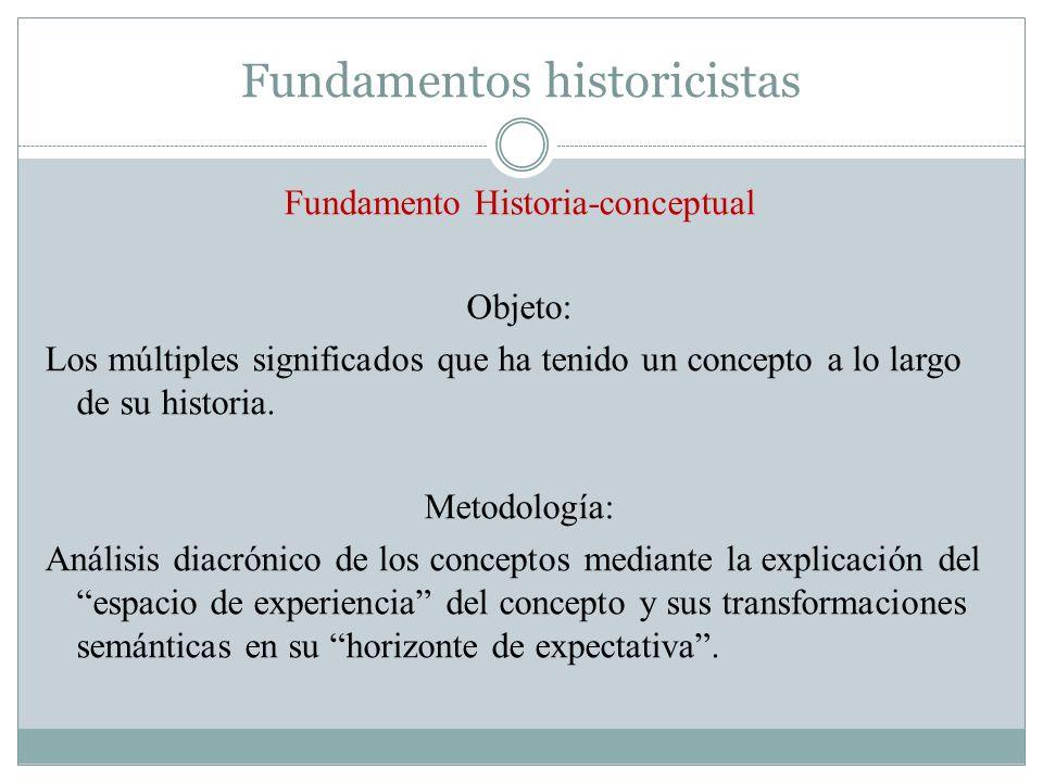 Fundamentos historicistas