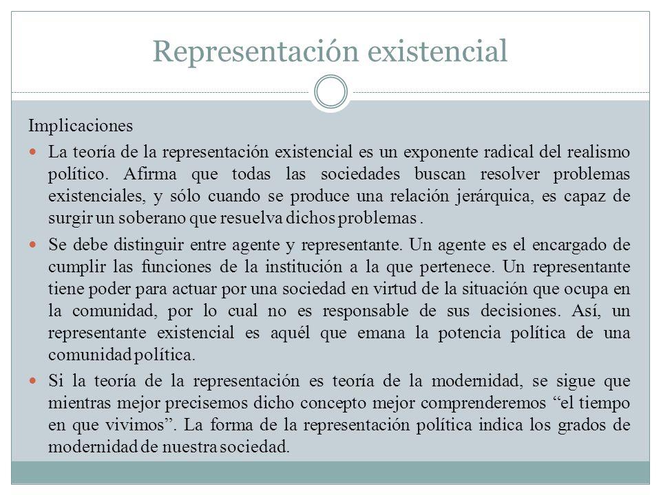 Representación existencial