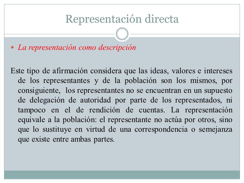 Representación directa