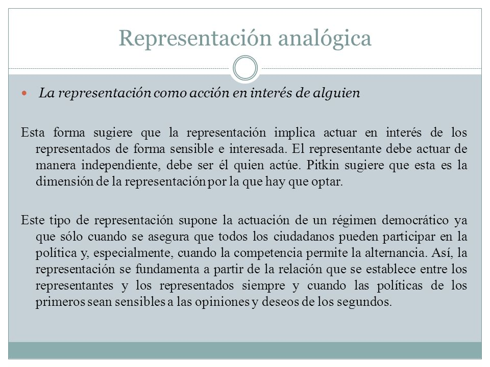 Representación analógica