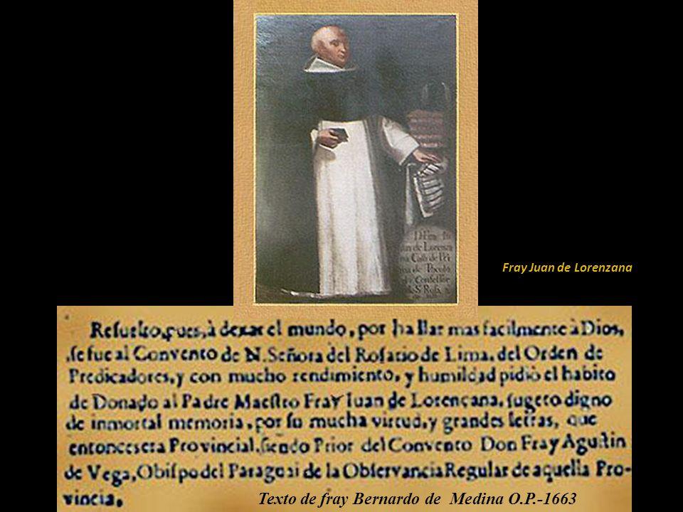 Texto de fray Bernardo de Medina O.P.-1663