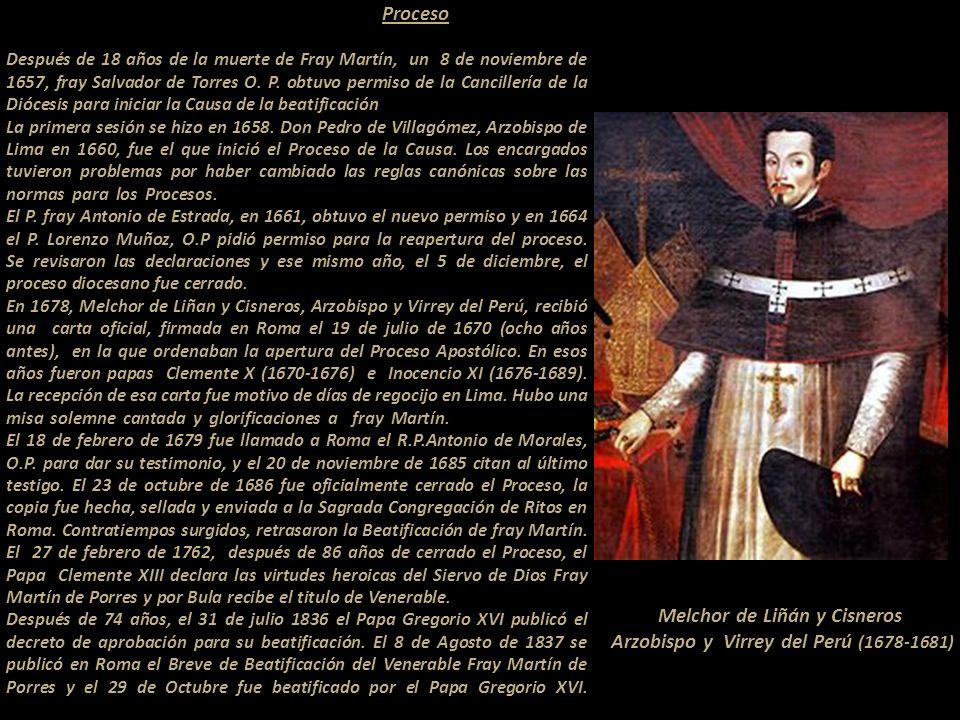 Melchor de Liñán y Cisneros Arzobispo y Virrey del Perú (1678-1681)