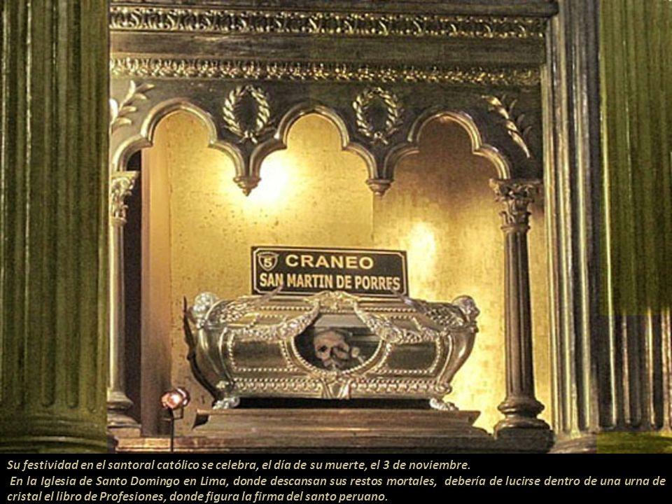 Su festividad en el santoral católico se celebra, el día de su muerte, el 3 de noviembre.