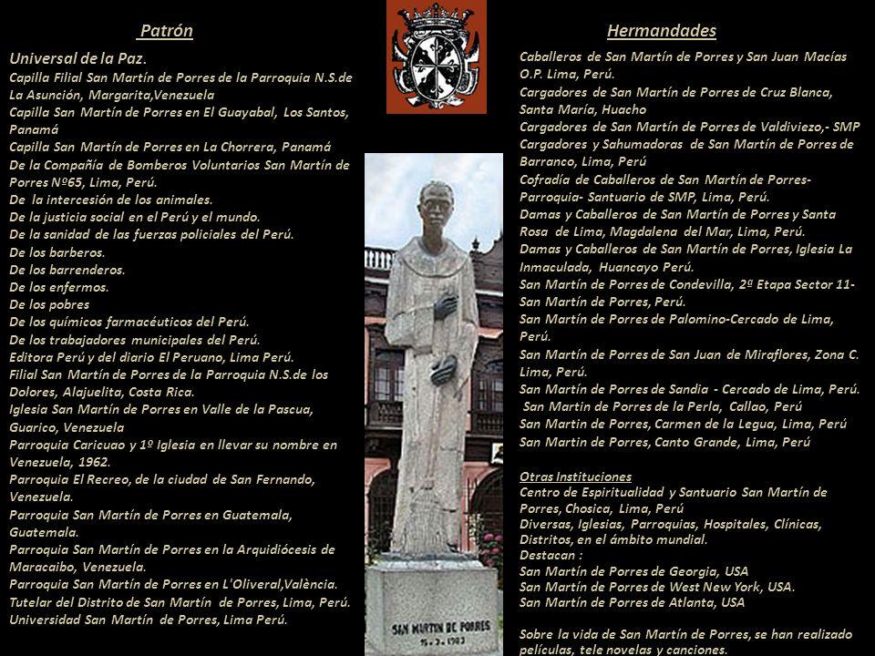 Patrón Hermandades Universal de la Paz.