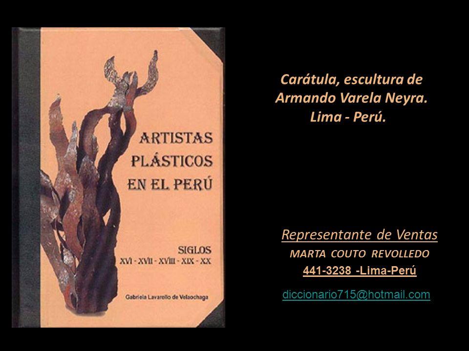 Carátula, escultura de Armando Varela Neyra. Lima - Perú.