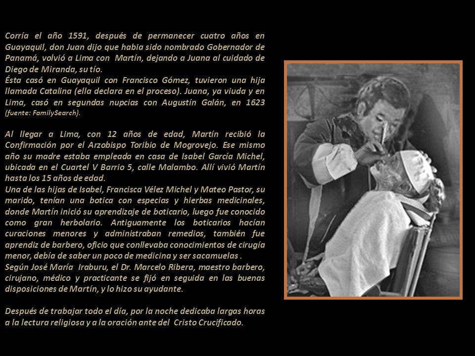 Corría el año 1591, después de permanecer cuatro años en Guayaquil, don Juan dijo que habia sido nombrado Gobernador de Panamá, volvió a Lima con Martín, dejando a Juana al cuidado de Diego de Miranda, su tío.
