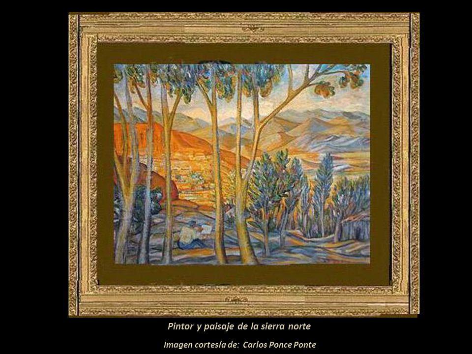 Pintor y paisaje de la sierra norte