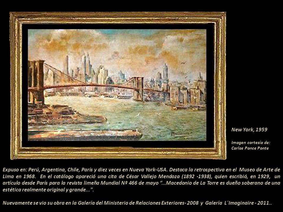 New York, 1959 Imagen cortesía de: Carlos Ponce Ponte.