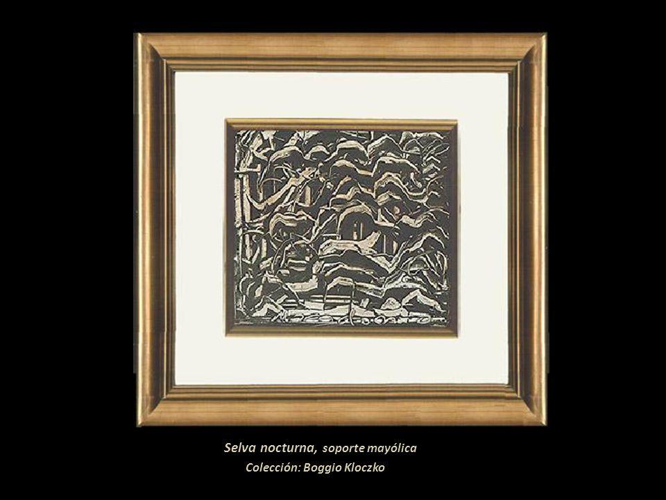 Selva nocturna, soporte mayólica Colección: Boggio Kloczko