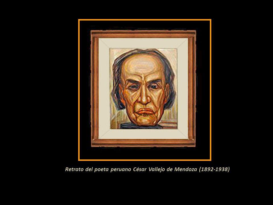 Retrato del poeta peruano César Vallejo de Mendoza (1892-1938)