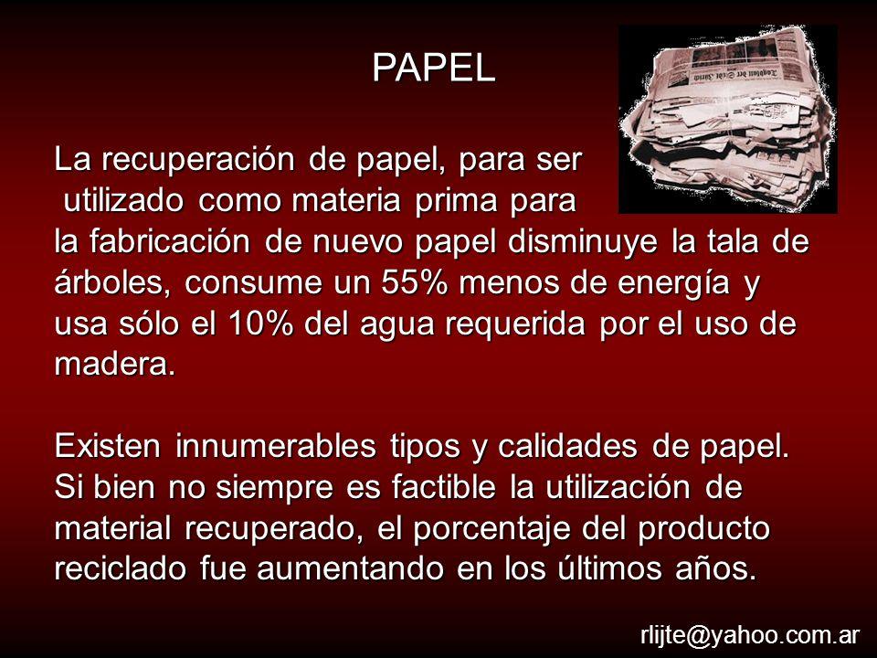 PAPEL La recuperación de papel, para ser