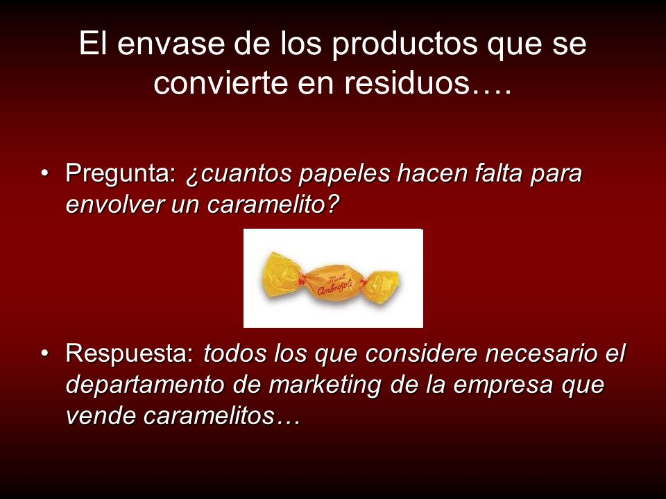 El envase de los productos que se convierte en residuos….