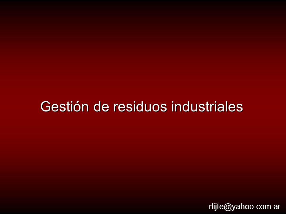 Gestión de residuos industriales