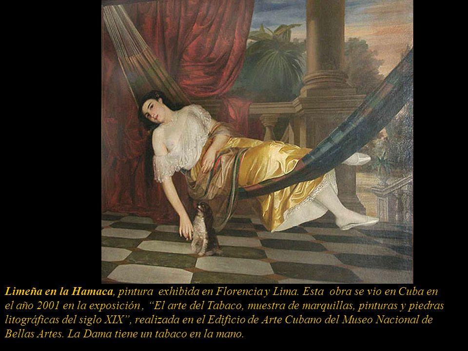 Limeña en la Hamaca, pintura exhibida en Florencia y Lima