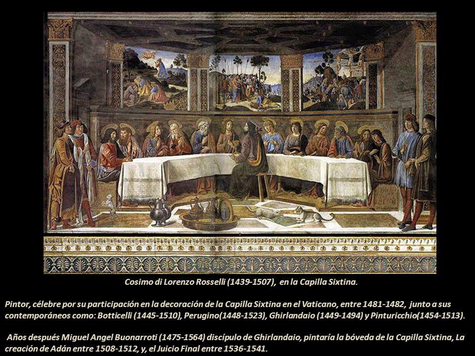 Cosimo di Lorenzo Rosselli (1439-1507), en la Capilla Sixtina