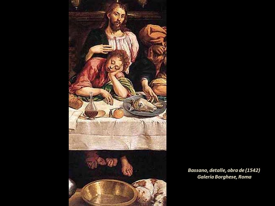 Bassano, detalle, obra de (1542) Galería Borghese, Roma