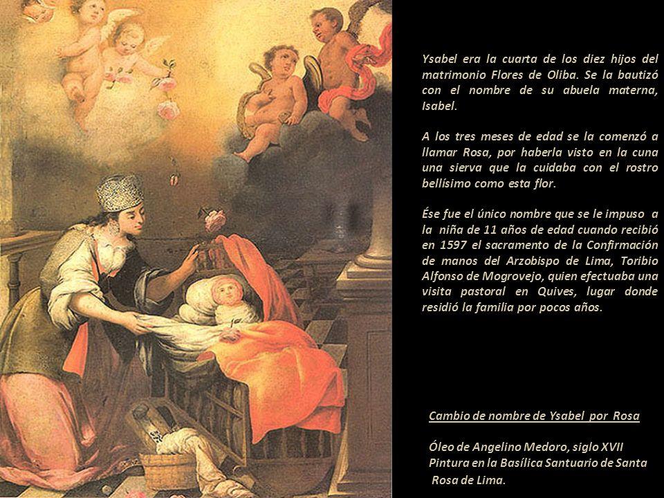 Ysabel era la cuarta de los diez hijos del matrimonio Flores de Oliba