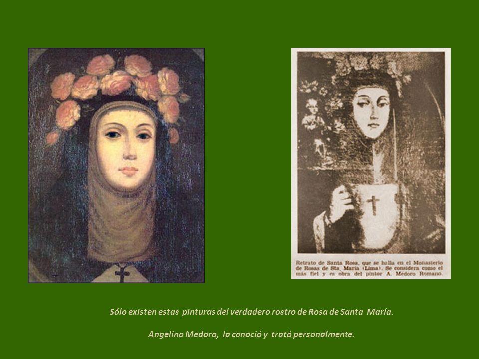 Sólo existen estas pinturas del verdadero rostro de Rosa de Santa María.