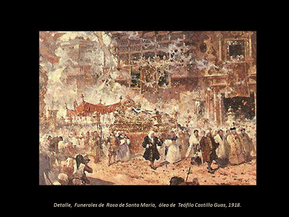 Funerales de Rosa de Santa María, óleo de Teófilo Castillo Guas, 1918