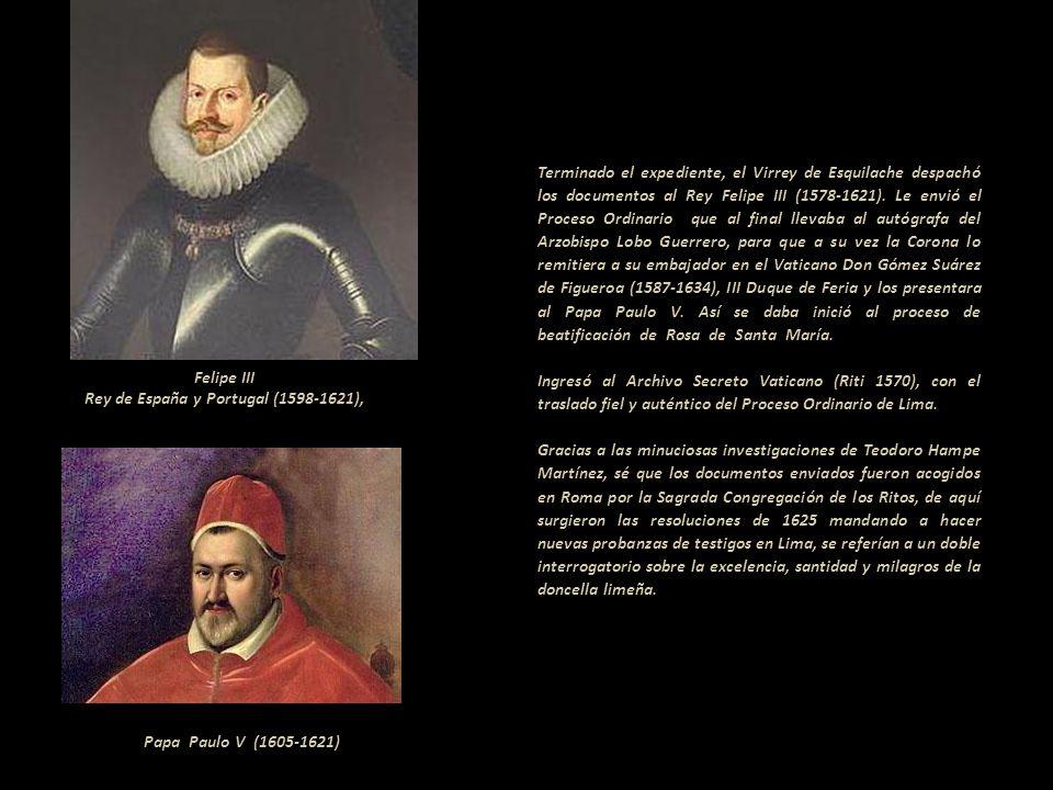 Felipe III Rey de España y Portugal (1598-1621),