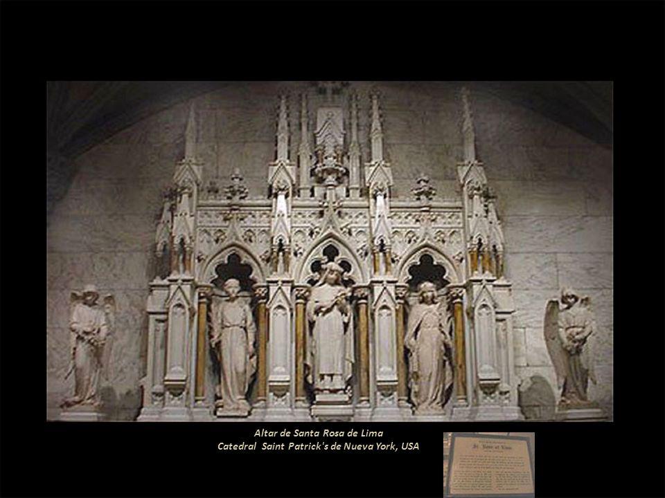 Altar de Santa Rosa de Lima Catedral Saint Patrick s de Nueva York, USA