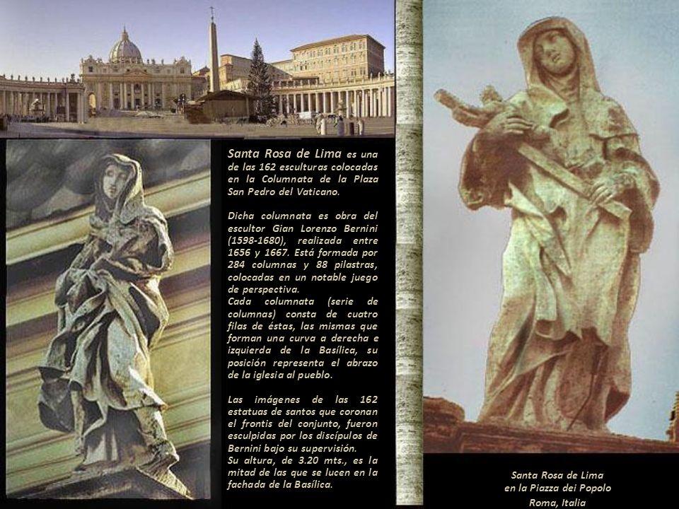 Santa Rosa de Lima en la Piazza dei Popolo Roma, Italia