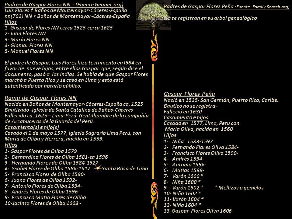 Padres de Gaspar Flores Peña -Fuente- Family Search.org)